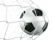 Soccerball in net